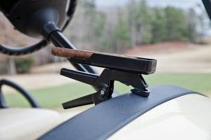 Cigar holder attached to golf cart
