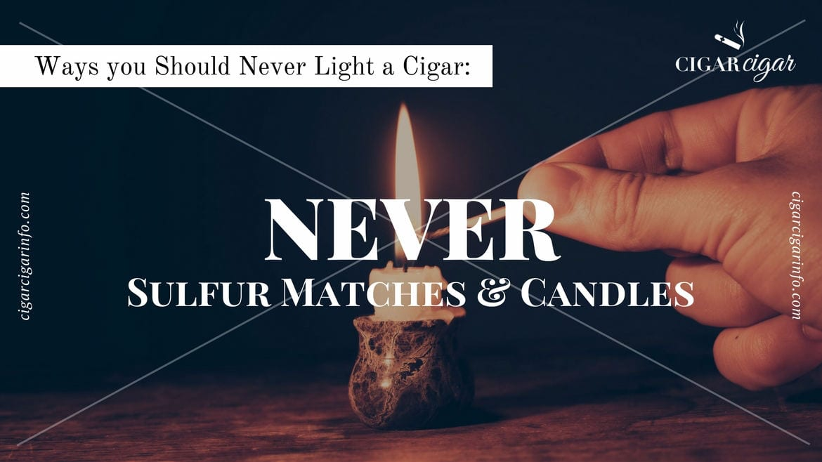 Lit candle and a match