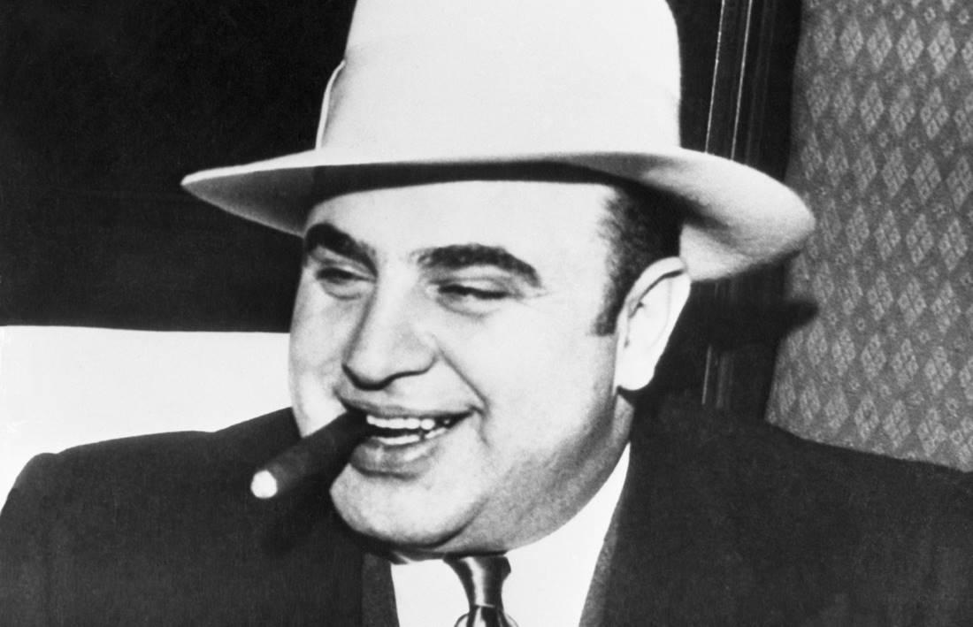 Al Capone smoking a cigar