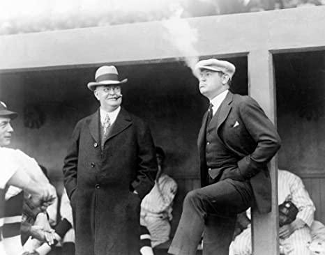 Babe Ruth and Johnson smoking