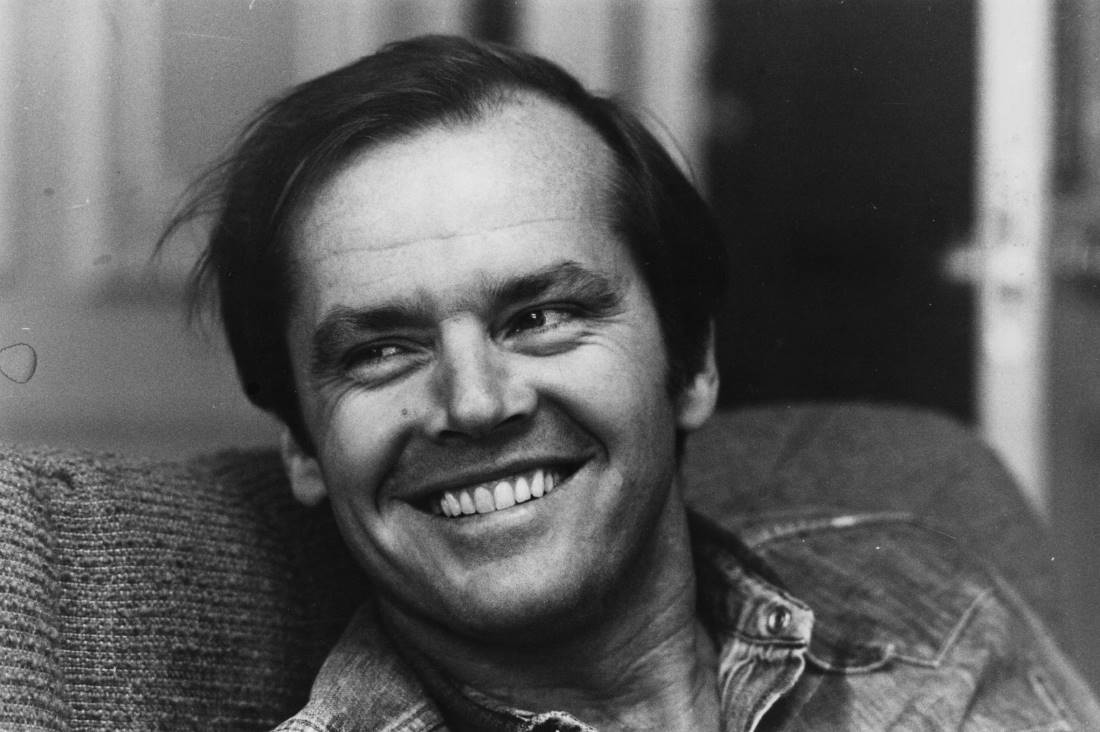 Jack Nicholson in black and white