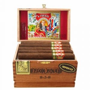 box of Arturo Fuente 8-5-8edition of cigars