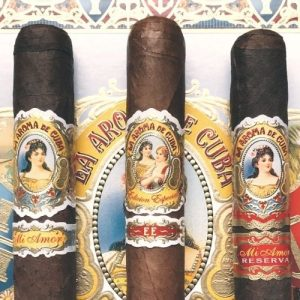 three cigars of la aroma de cuba cigars